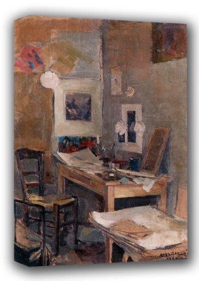 Gallen-Kallela, Akseli: My First Room in Paris. Fine Art Canvas. Sizes: A3/A2/A1 (001080)